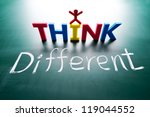 i think different concept ... | Shutterstock . vector #119044552
