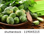 Fresh Raw Brussels Sprouts On ...