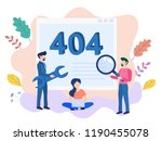 concept 404 error page or file... | Shutterstock .eps vector #1190455078