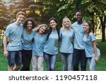 group of happy young diverse... | Shutterstock . vector #1190457118