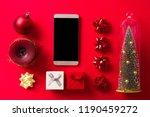 christmas ornament composition... | Shutterstock . vector #1190459272
