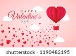 happy valentines day invitation ... | Shutterstock .eps vector #1190482195