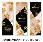christmas and new year banners... | Shutterstock .eps vector #1190482408