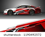 car decal wrap design vector.... | Shutterstock .eps vector #1190492572