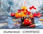 halloween candy bar for kids... | Shutterstock . vector #1190493652