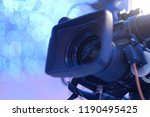 video camera on the crane... | Shutterstock . vector #1190495425
