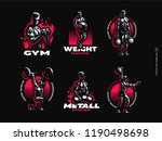 sport. sporty and athletic man. ...   Shutterstock .eps vector #1190498698