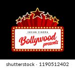 bollywood is a traditional... | Shutterstock . vector #1190512402