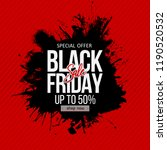 black friday sale label.... | Shutterstock .eps vector #1190520532