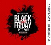 black friday sale label....   Shutterstock .eps vector #1190520532