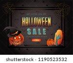 halloween sale vector... | Shutterstock .eps vector #1190523532