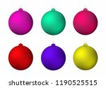 set of realistic christmas...   Shutterstock .eps vector #1190525515