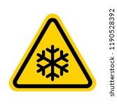 cold warning sign | Shutterstock .eps vector #1190528392