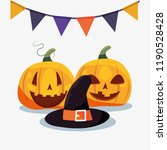 halloween people customes | Shutterstock .eps vector #1190528428