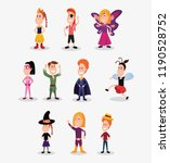 halloween people customes | Shutterstock .eps vector #1190528752