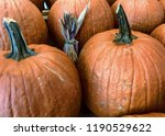 pumpkins on a stand displayed... | Shutterstock . vector #1190529622