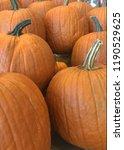 pumpkins on a stand displayed... | Shutterstock . vector #1190529625