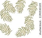 fern frond herbs  tropical... | Shutterstock .eps vector #1190530105