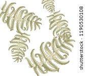 fern frond herbs  tropical... | Shutterstock .eps vector #1190530108