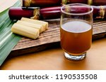 sugar cane and broth on the...   Shutterstock . vector #1190535508