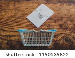 shopping basket and healthy... | Shutterstock . vector #1190539822