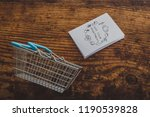 shopping basket and healthy... | Shutterstock . vector #1190539828
