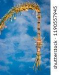 detail of balinese hindu... | Shutterstock . vector #1190557945