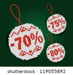discount price tag | Shutterstock . vector #119055892