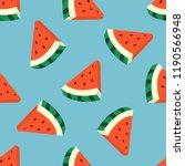 fruity seamless vector pattern... | Shutterstock .eps vector #1190566948