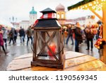 street lantern on christmas... | Shutterstock . vector #1190569345