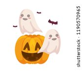 halloween pumpkin desing | Shutterstock .eps vector #1190570965
