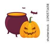 halloween pumpkin desing | Shutterstock .eps vector #1190571658