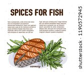 culinary spice for fish ... | Shutterstock .eps vector #1190572945