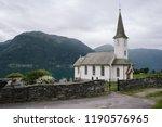 white wooden norwegian church   ...   Shutterstock . vector #1190576965