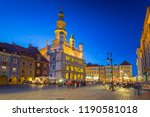 architecture of the main square ... | Shutterstock . vector #1190581018