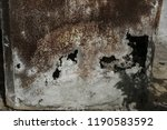 corroded white metal background.... | Shutterstock . vector #1190583592