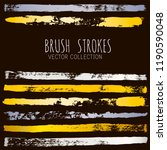 gold and silver brush strokes... | Shutterstock .eps vector #1190590048