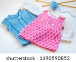 children's knitted clothes | Shutterstock . vector #1190590852