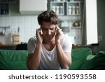 young attractive stressed... | Shutterstock . vector #1190593558