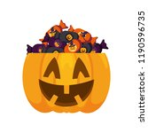 halloween pumpkin design | Shutterstock .eps vector #1190596735