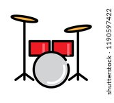 drum icon  vector illustration | Shutterstock .eps vector #1190597422