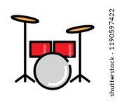 drum icon  vector illustration | Shutterstock .eps vector #1190597422