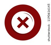 not icon in badge style. one of ... | Shutterstock . vector #1190616145