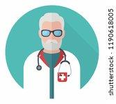 vector medical icon man doctor. ... | Shutterstock .eps vector #1190618005
