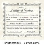 vector vintage marriage... | Shutterstock .eps vector #119061898