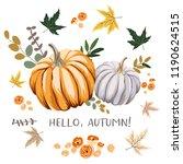 hello autumn design template... | Shutterstock .eps vector #1190624515