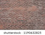 old red brick wall closeup | Shutterstock . vector #1190632825