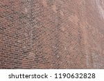 old red brick wall closeup | Shutterstock . vector #1190632828