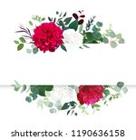 autumn floral horizontal vector ... | Shutterstock .eps vector #1190636158