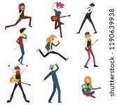 young people play musical...   Shutterstock .eps vector #1190639938